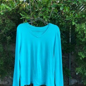 3/$15 Eddie Bauer turquoise top XL